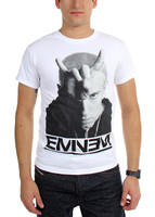 EMINEM Horns Logo Slim Shady T-Shirt