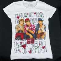EMBLEM 3 Keaton Wes Drew Photo Girl Kids T-Shirt