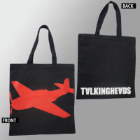 TALKING HEADS Big Plane Logo Black Color Tote Handbag