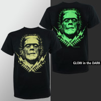 Boris Karloff Frankenstein T-Shirt -  Bolts Glow in The Dark