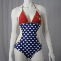 DC COMICS Wonder Woman Beach Triangle Juniors Monokini