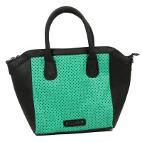GG Rose Perforated Star Tote Aqua