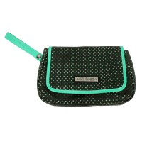GG Rose Perforated Star Black Clutch