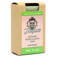 Don Juan Mr. Clay Organic Beard Face Soap 3.75 Oz.
