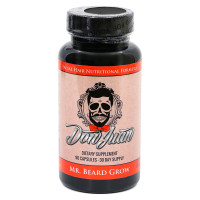 Mr. Beard Grow Facial Hair Enhancer Formula by Don Juan - 90 Vegetarian V-Capsules