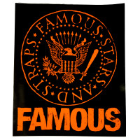 "Famous Stars & Straps Orange Presidential Seal 8"" Sticker Decal"