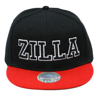 Damian Marley Zilla Snapback Flat Bill Hat Black Red