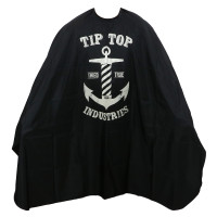 Tit Top Industries Anchor Logo Barber's Cape Black
