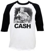 Johnny Cash The Bird Raglan T-Shirt