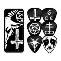 Black Metal  Tin 6 Picks