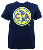 Club America Dirty Logo Slim-Fit T-Shirt Navy