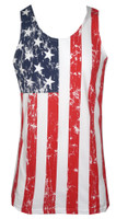 American Flag Distressed Men's Tank Top