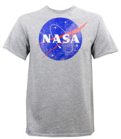Nasa Distressed Logo Slim-Fit T-Shirt