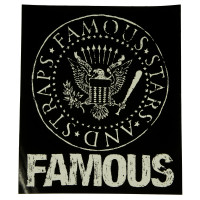 "Famous Stars & Straps White Presidential Seal 8"" Sticker Decal"