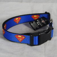 DC COMICS SUPERMAN Emblem shield Logo Blue Dog Pet Collar