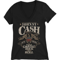 Johnny Cash Girls T-Shirt - Rock N Roll Dolman