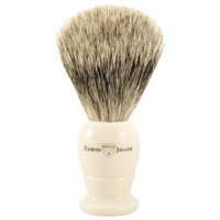 EDWIN JAGGER Best Badger Imitation Ivory Medium Shaving Brush