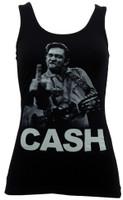 Johnny Cash The Bird Juniors Tank Top