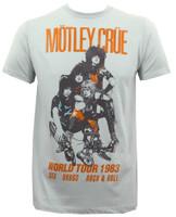 Motley Crue Vintage World Tour 1983 Slim-Fit T-Shirt Silver