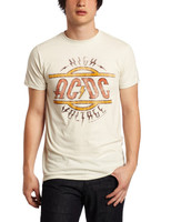 AC/DC High Voltage Distressed Slim Fit T-Shirt