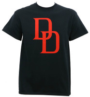 Daredevil Red Logo T-Shirt Black