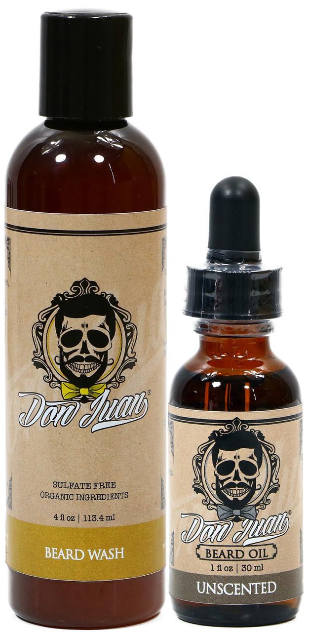 Don Juan Beard Wash & Oil Unscented Essential Kit