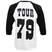 Waylon Jennings '79 Tour Raglan Shirt White Black