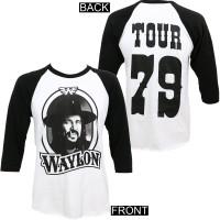 Waylon Jennings '79 Tour Raglan Shirt White Black