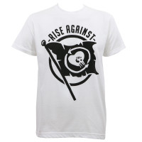 Rise Against Heartfist Flag Slim-Fit T-Shirt White