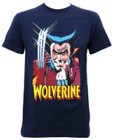 Marvel Wolverine Beck and Claw Slim-Fit T-Shirt Navy