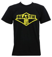 Beastie Boys Yellow Logo Slim-Fit T-Shirt Black