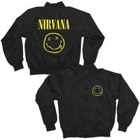 Nirvana Juniors Smiley Satin Jacket
