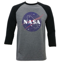 Nasa Distressed Logo Raglan T-Shirt