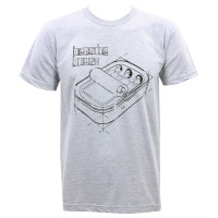 Beastie Boys Sardine Blueprint Slim-Fit T-Shirt Heather Gray