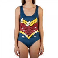 Wonder Woman Bodysuit With Cape Costume