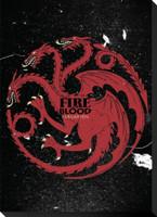 "Game of Thrones Targaryen Sigil Stretched Canvas Banner 13"" x 18"""