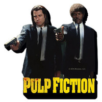 "PULP FICTION Duo Guns Funky Chunky 4"" x 4"" Magnet"