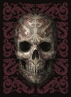 "Anne Stokes Oriental Skull Fabric Poster Flag 30"" x 40"""