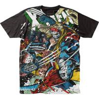 Marvel X-Men Wolverine Vs. Omega Subway Slim-Fit T-Shirt