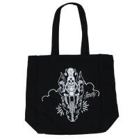 Sailor Jerry Tattoo Skeleton Biker Canvas Tote Handbag
