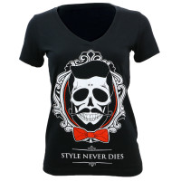 Don Juan Jumbo Style Never Dies Junior's V-Neck T-Shirt