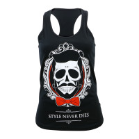 Don Juan Jumbo Style Never Dies Junior's Racerback Tank Top