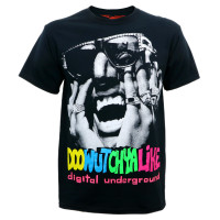 Digital Underground Doowutchyalike Slim Fit T-Shirt Black