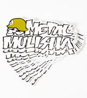"METAL MULISHA Iconoclast Logo Optic White 8"" Sticker Decal"