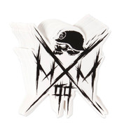 "METAL MULISHA Owned Skull Cross 6"" Sticker Decal"