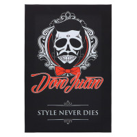"Don Juan Style Never Dies Logo Canvas 18"" x 12"""