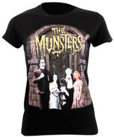 Universal The Munsters Family Portrait Juniors T-Shirt