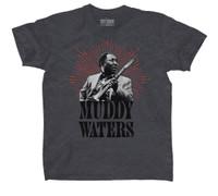 Muddy Water Portrait Slim-Fit T-Shirt Charcoal Heather