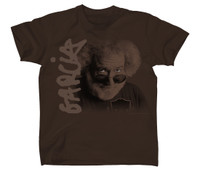 Jerry Garcia Eyes Portrait T-Shirt Brown