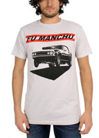Fu Manchu Muscle Slim-Fit T-Shirt Silver